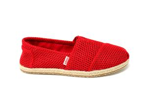 ESPADRILLE ROUGE MAILLE COTON MALOUINES